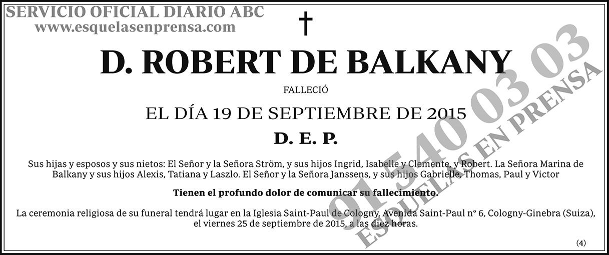 Robert de Balkany